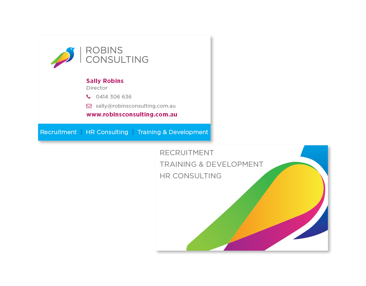 Business card design katy pastoors robins consulting business card reheart Choice Image