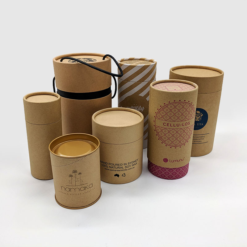 custom round containers with kraft look