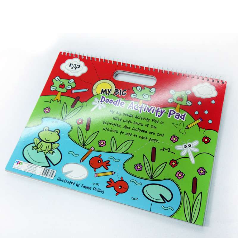 custom children book printing with ring binding