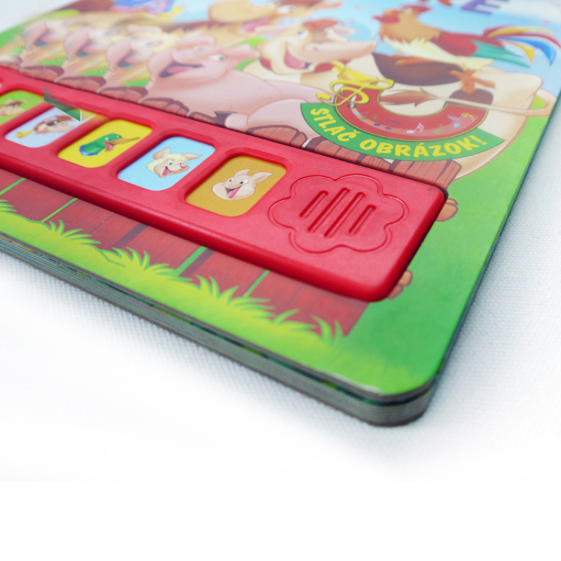 custom children book printing with sound buttons