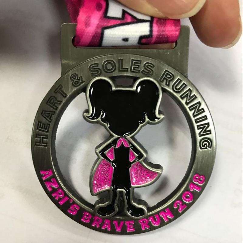 Azri's Brave Run Race Medal 2018