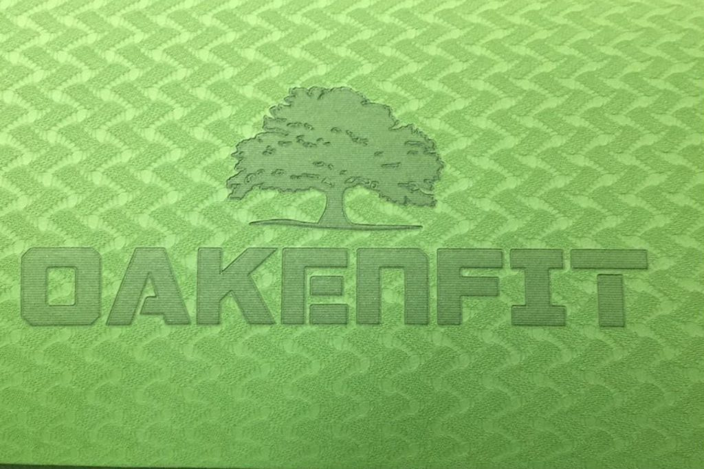 custom yoga mat engraving green