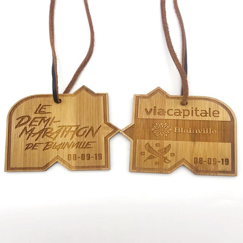 Laser Engraved Wood Medal